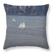 Sails On The Harbor No. 2 Throw Pillow