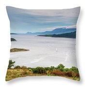 Sails On The Kyles Of Bute Throw Pillow