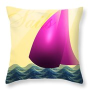 Sails Throw Pillow by Trevor Wintle