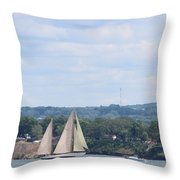 Sails Up Throw Pillow