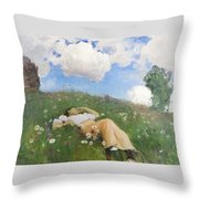 Saimi In The Meadow Throw Pillow