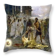 Saint Alban Throw Pillow