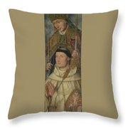 Saint Ambrose With Ambrosius Van Engelen   Throw Pillow