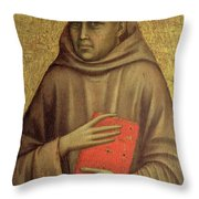 Saint Anthony Abbot Throw Pillow by Giotto di Bondone
