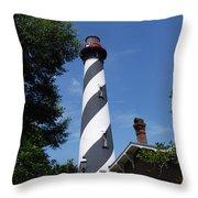 Saint Augustine Lighhouse Throw Pillow