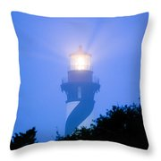 Saint Augustine Lighthouse In The Fog Throw Pillow