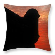 Saint Augustine Old Fort Throw Pillow