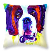 Saint Bernard -  Throw Pillow