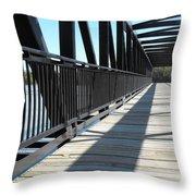 Saint Charles Walking Bridge Throw Pillow