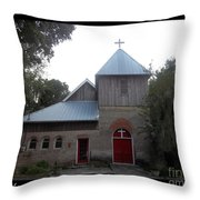 Saint Cyprians Episcopal Church Throw Pillow