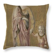 Saint Dorothy And The Infant Christ Throw Pillow