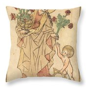 Saint Dorothy Throw Pillow