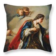 Saint Elisabeth Of Hungary Praying Throw Pillow