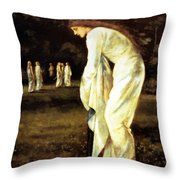 Saint George And The Dragon The Princess Tied To The Tree 1866 Throw Pillow
