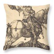 Saint George On Horseback Throw Pillow