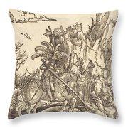 Saint George Slaying The Dragon Throw Pillow