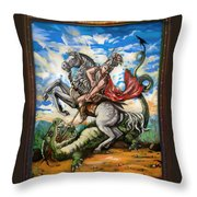 Saint George Throw Pillow