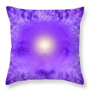 Saint Germain And The Violet Flame Throw Pillow