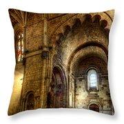 Saint Isidore - Romanesque Temple Transept Throw Pillow