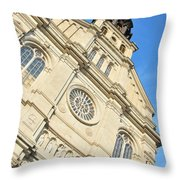 Saint Jean Baptiste Church In Quebec City Throw Pillow