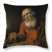Saint Jerome Throw Pillow
