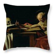 Saint Jerome Writing Throw Pillow