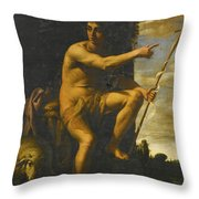 Saint John The Baptist In The Wilderness Throw Pillow