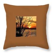 Saint Johns River Sunset  Throw Pillow