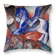 Saint Julian The Hospitaler Throw Pillow