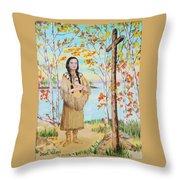 Saint Kateri Throw Pillow