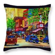 Saint Lawrence Street  Throw Pillow