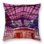 Saint Lazare Station Throw Pillow