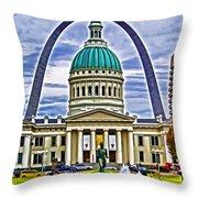 Saint Louis Icons Throw Pillow