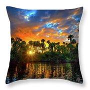 Saint Lucie River Sunset Throw Pillow