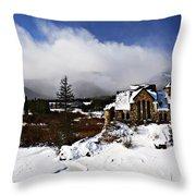 Saint Malo Church Colorado Throw Pillow
