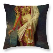 Saint Margaret Slaying The Dragon Throw Pillow by Antoine Auguste Ernest Herbert