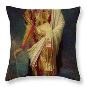 Saint Margaret Slaying The Dragon Throw Pillow by Antoine Auguste Ernest Herbert