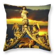 Saint Marks Basilica Facade  Throw Pillow