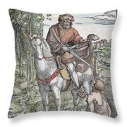 Saint Martin (c316-397) Throw Pillow
