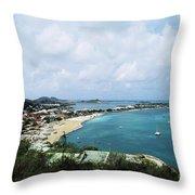 Saint Martin Coast Throw Pillow