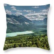 Saint Mary Lake Panorama Throw Pillow