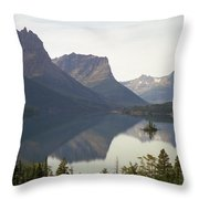Saint Marys Lake Throw Pillow