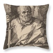 Saint Matthias Throw Pillow