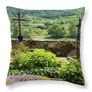 Saint Michael Church Cemetery Throw Pillow