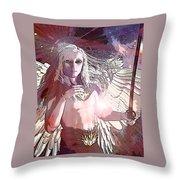 Saint Michael Doll 2 Throw Pillow