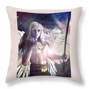 Saint Michael Doll Throw Pillow