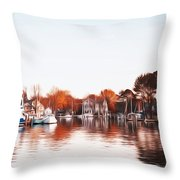 Saint Michael's Harbor Throw Pillow by Bill Cannon