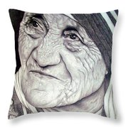 Mother Teresa Saint Of Calcutta  Throw Pillow