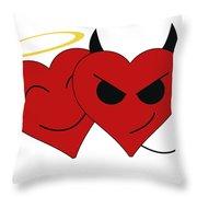 Saint Or Evil Throw Pillow