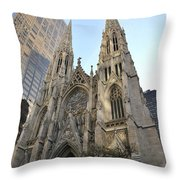 Saint Patrick's Cathedral Throw Pillow